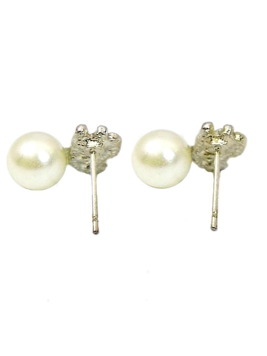 Butterfly Charm Pearl Studs