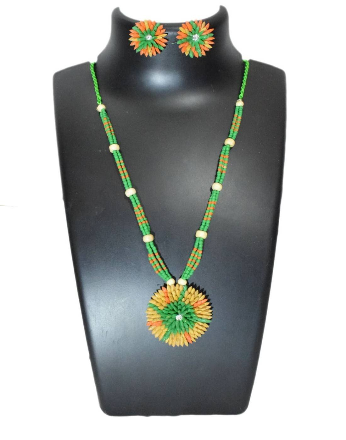 Paddy Grain Necklace Set- Multicolored 1
