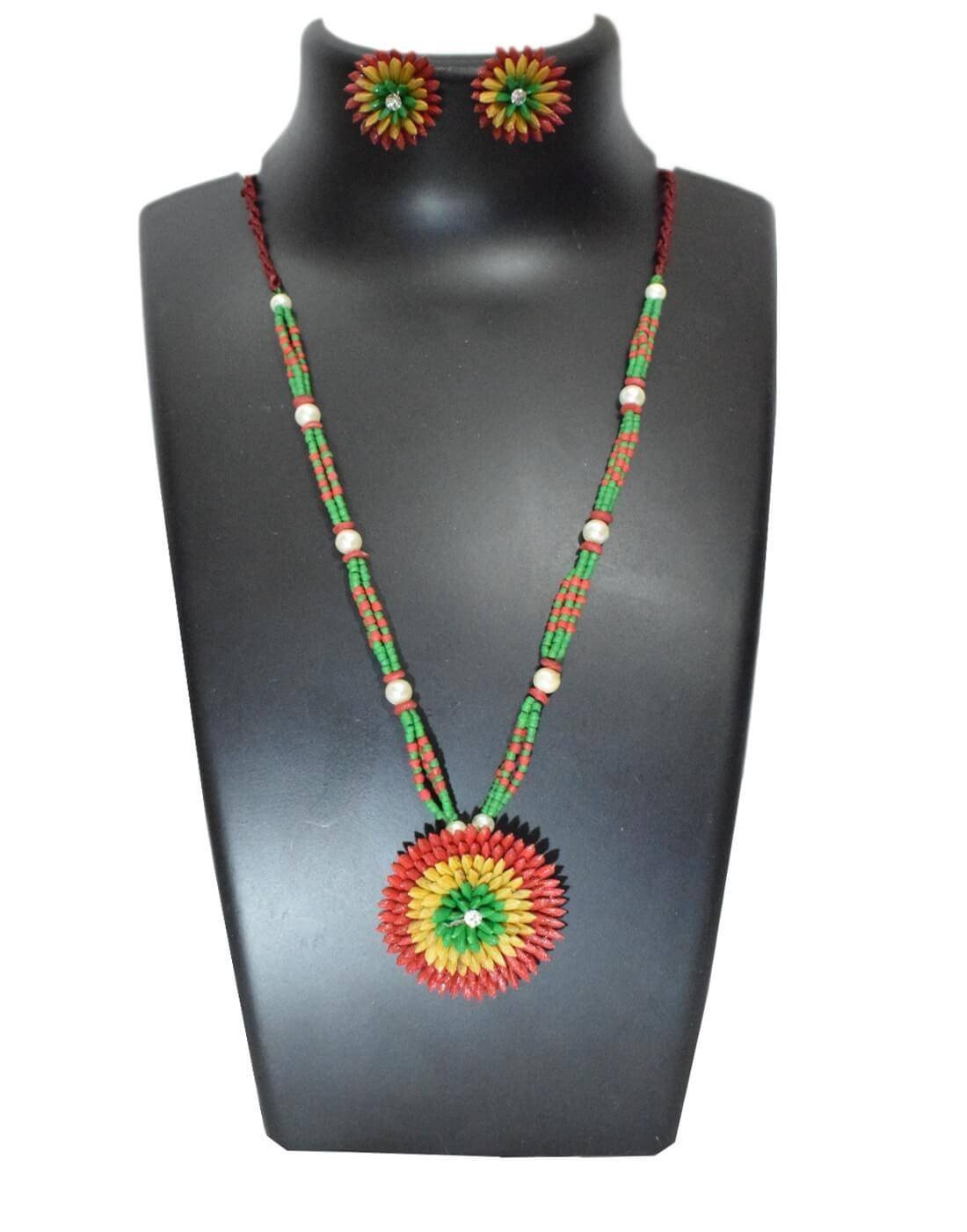 Paddy Grain Necklace Set-Multicolored 4