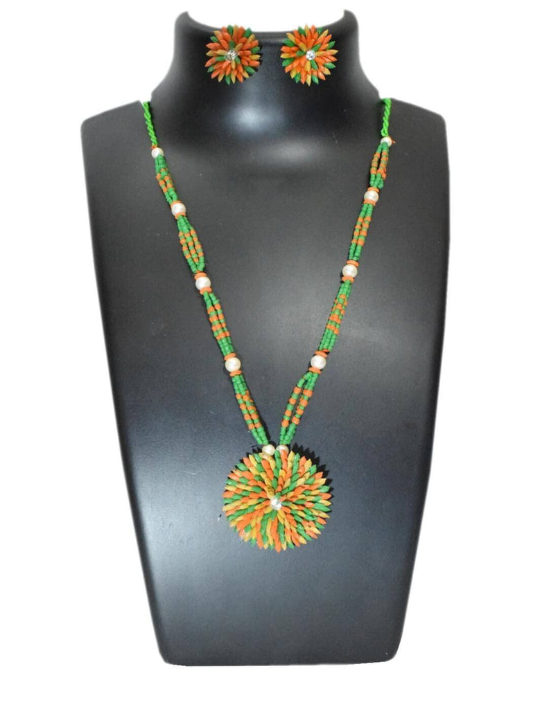 Paddy Grain Necklace Set- Multicolored 6