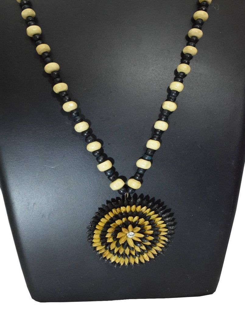 Paddy Grain Necklace Set-Black&White