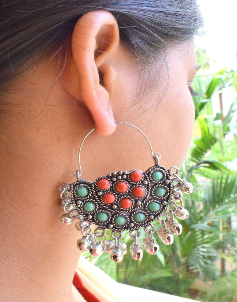 Afghani Earrings/Chandbalis In Alloy Metal