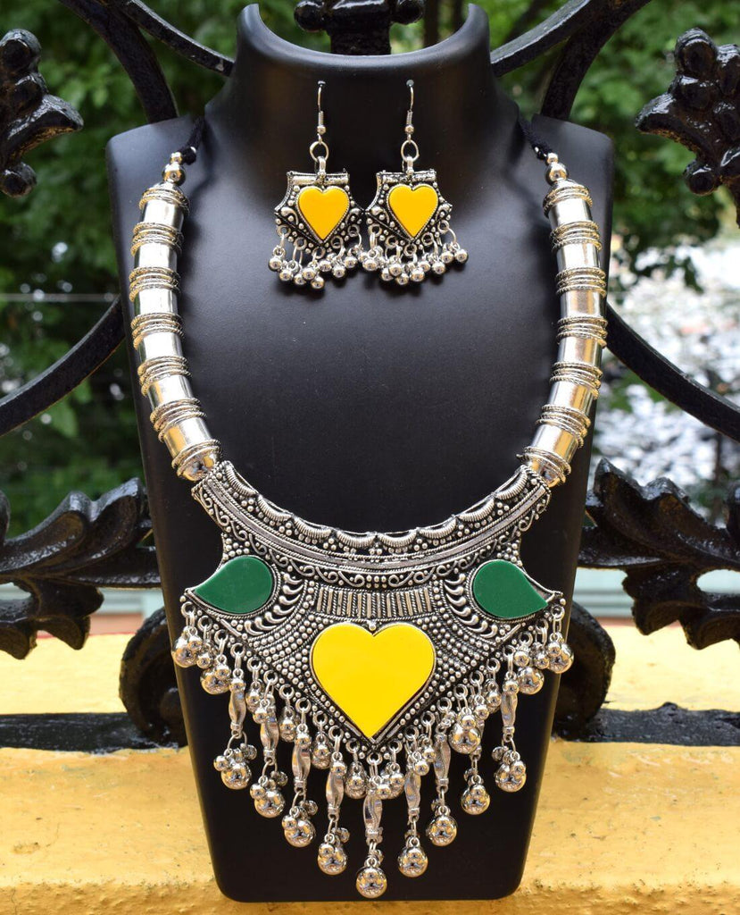 GiftPiper Oxidized Metal Set Colored- Yellow&Green