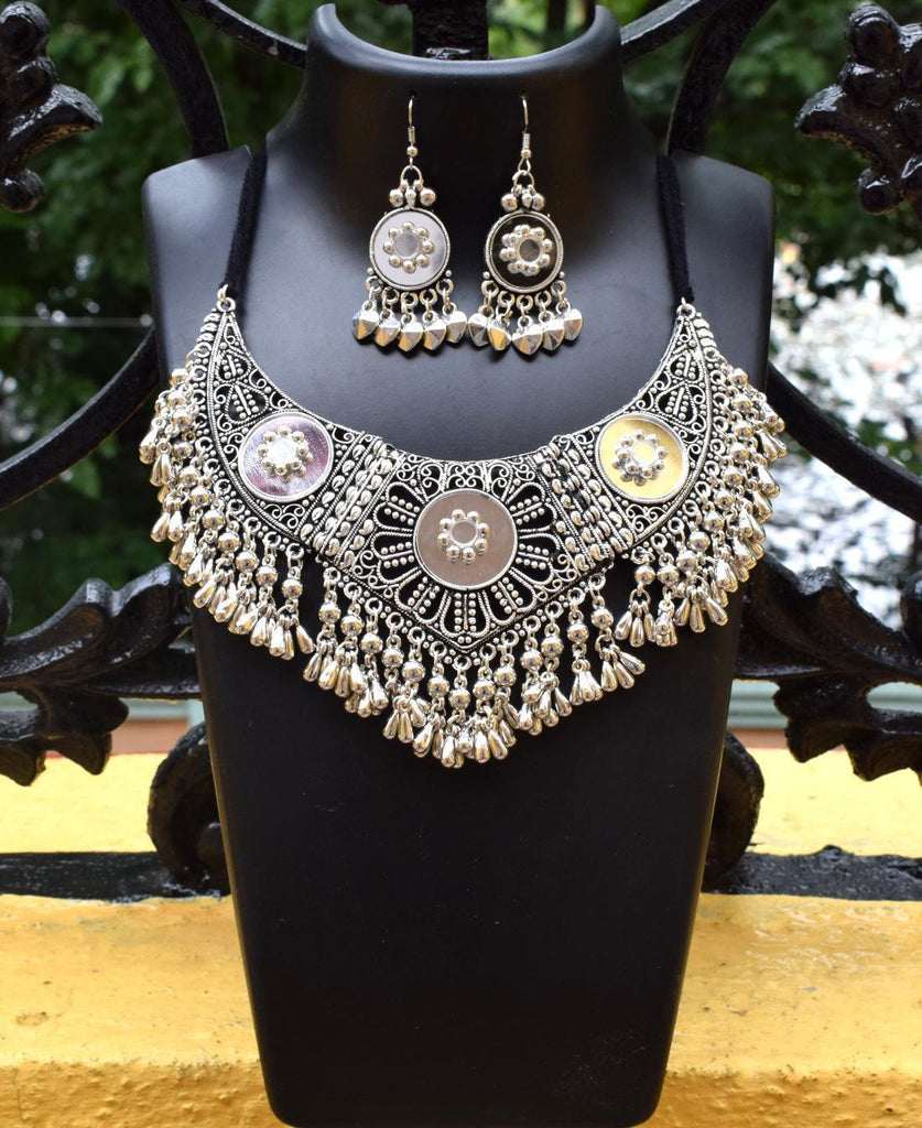 GiftPiper Oxidized Metal Jewellery Set- Mirror 2