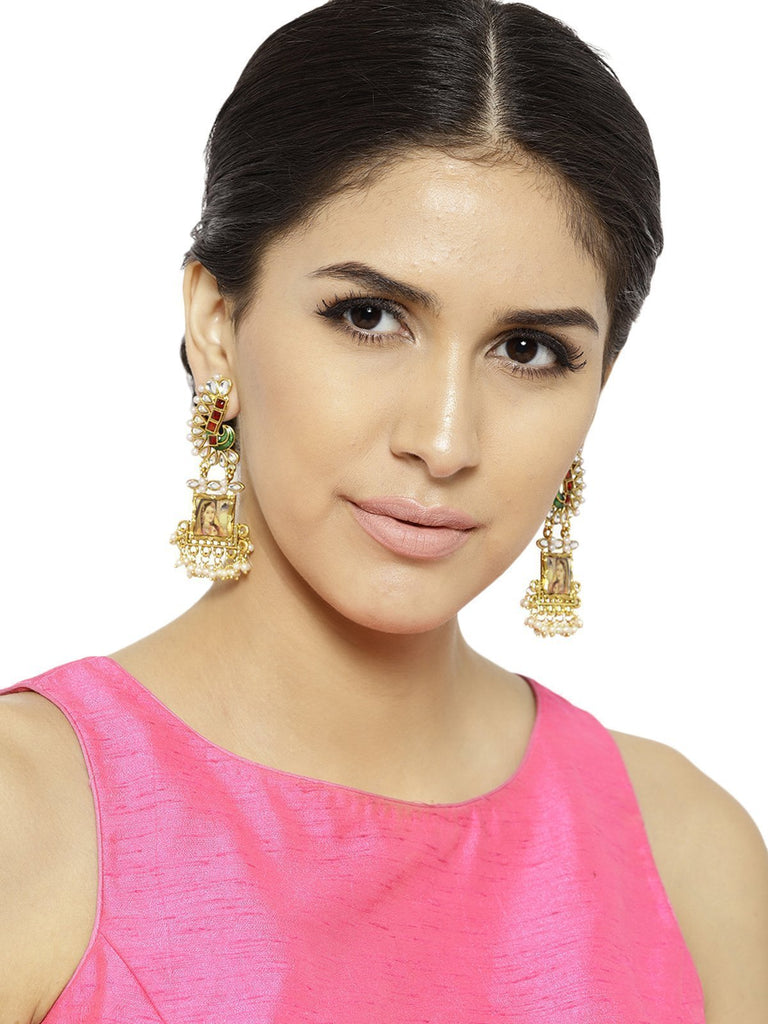 Zaveri Pearls Padmavati Inspired Ethnic And Classic Dangle Earring