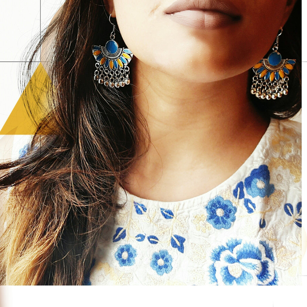 Afghani Designer Dangle Earrings