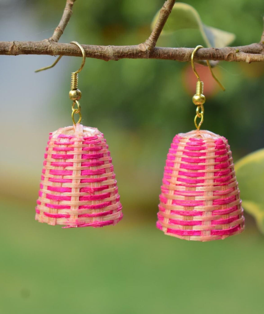 Bamboo Earrings Lamp Shaped