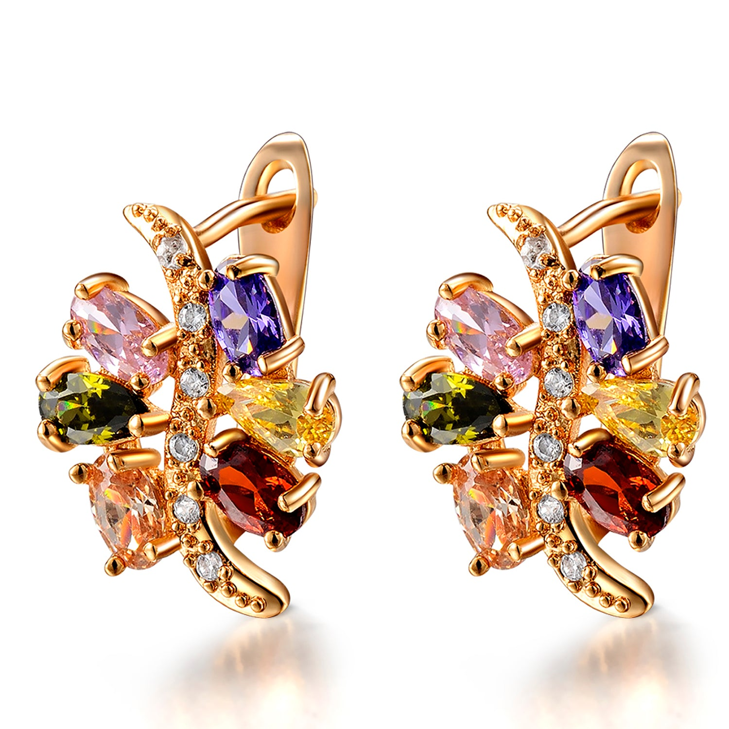 Sukkhi Exotic Crystal Gold Plated Multi Colour Earring for Women-SUKKHI1-E81073