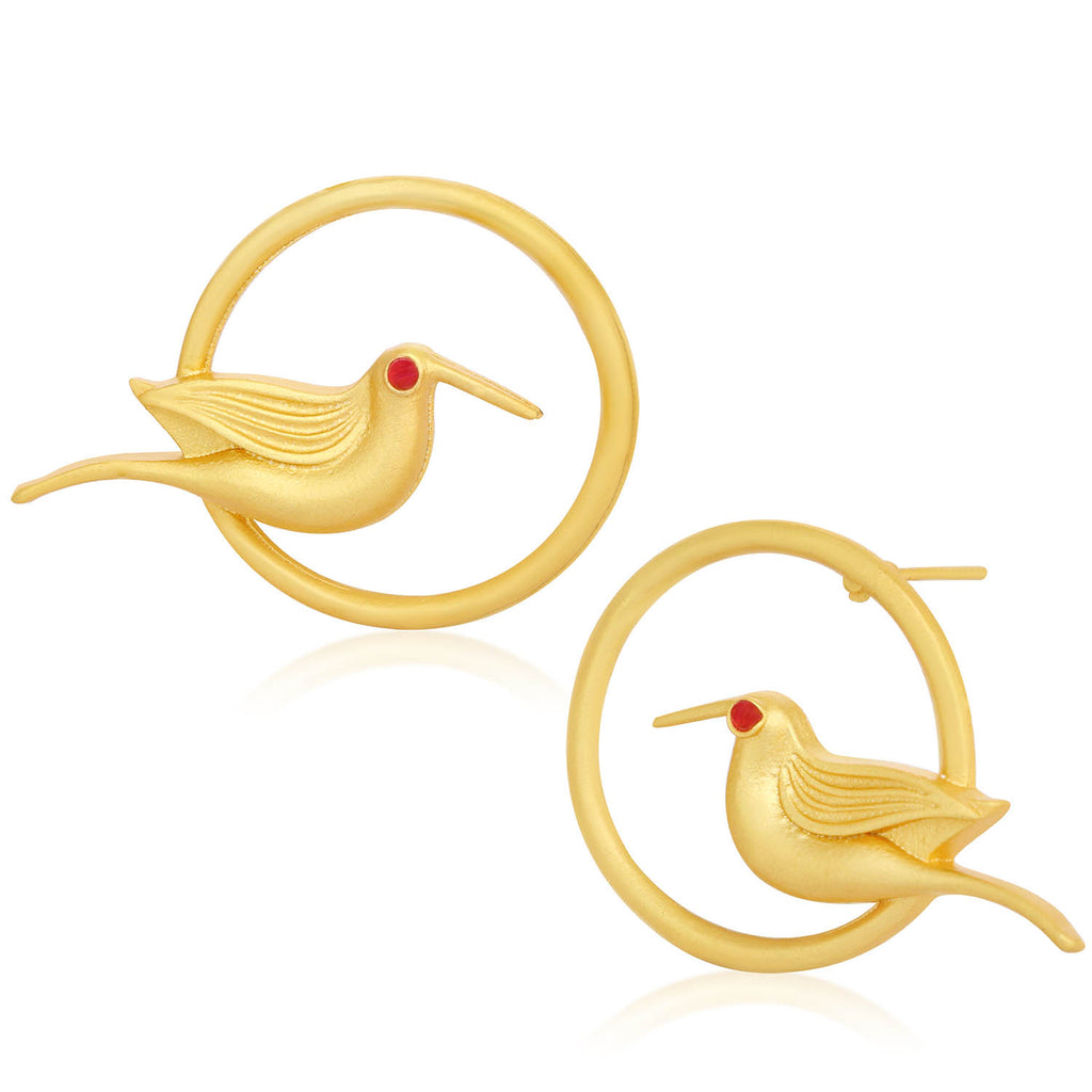 Sukkhi Trendy Gold Plated Bird Stud Earring For Women-SUKKHI1-Earring