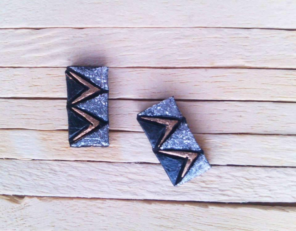 Blue Colour Terracotta Stud Earring
