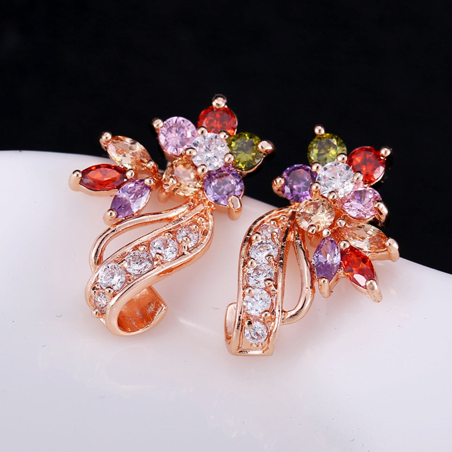 Sukkhi Exclusive�Crystal Gold Plated Multi Colour Earring for Women-SUKKHI1-E81065