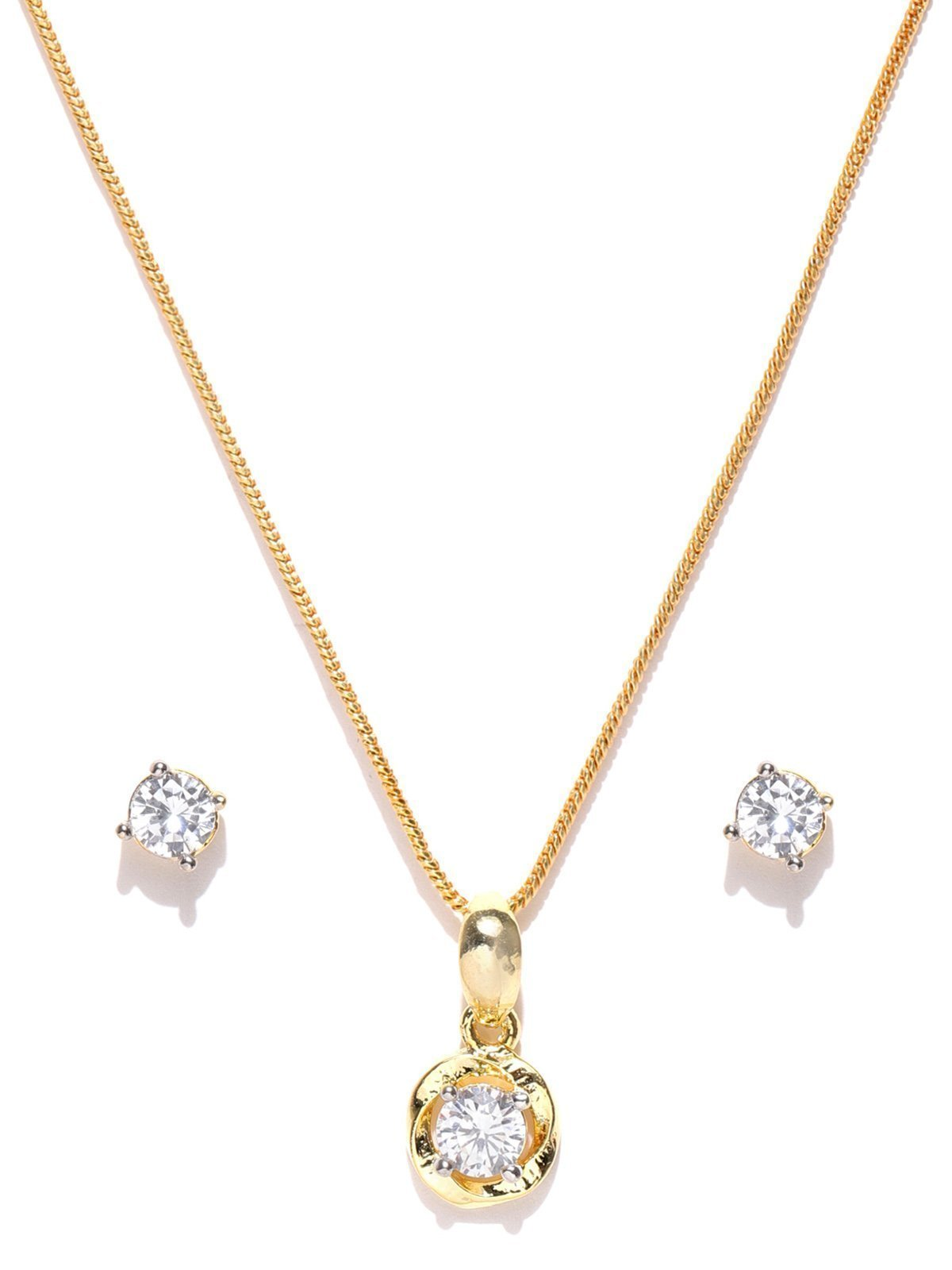 Zaveri Pearls Delicate And Stylish Pendant Set