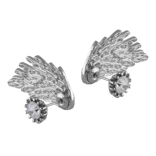 Silver Wings Of Gabriel Earring