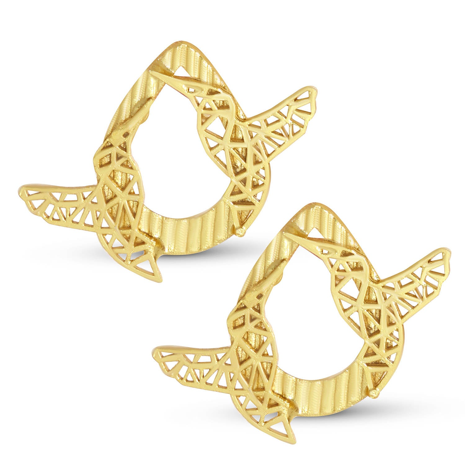 Sukkhi Glitzy Gold Plated Bird Stud Earring For Women-SUKKHI1-Earring