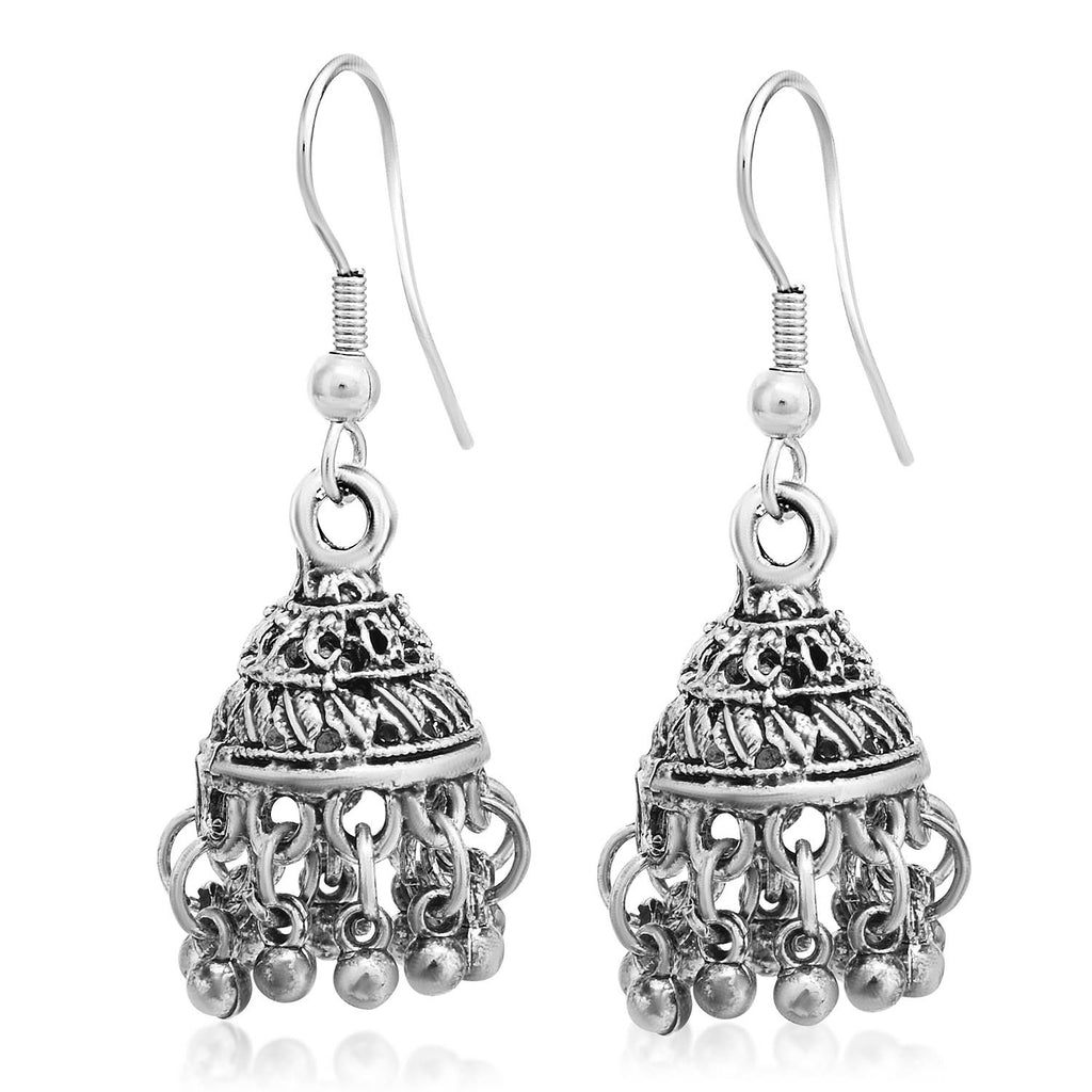 Sukkhi Exclusive Oxidised Jhumki Earring For Women-SUKKHI1-Earring