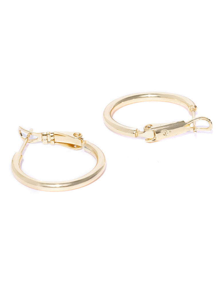 Zaveri Pearls Rose Gold Contemporary Hoop Earring