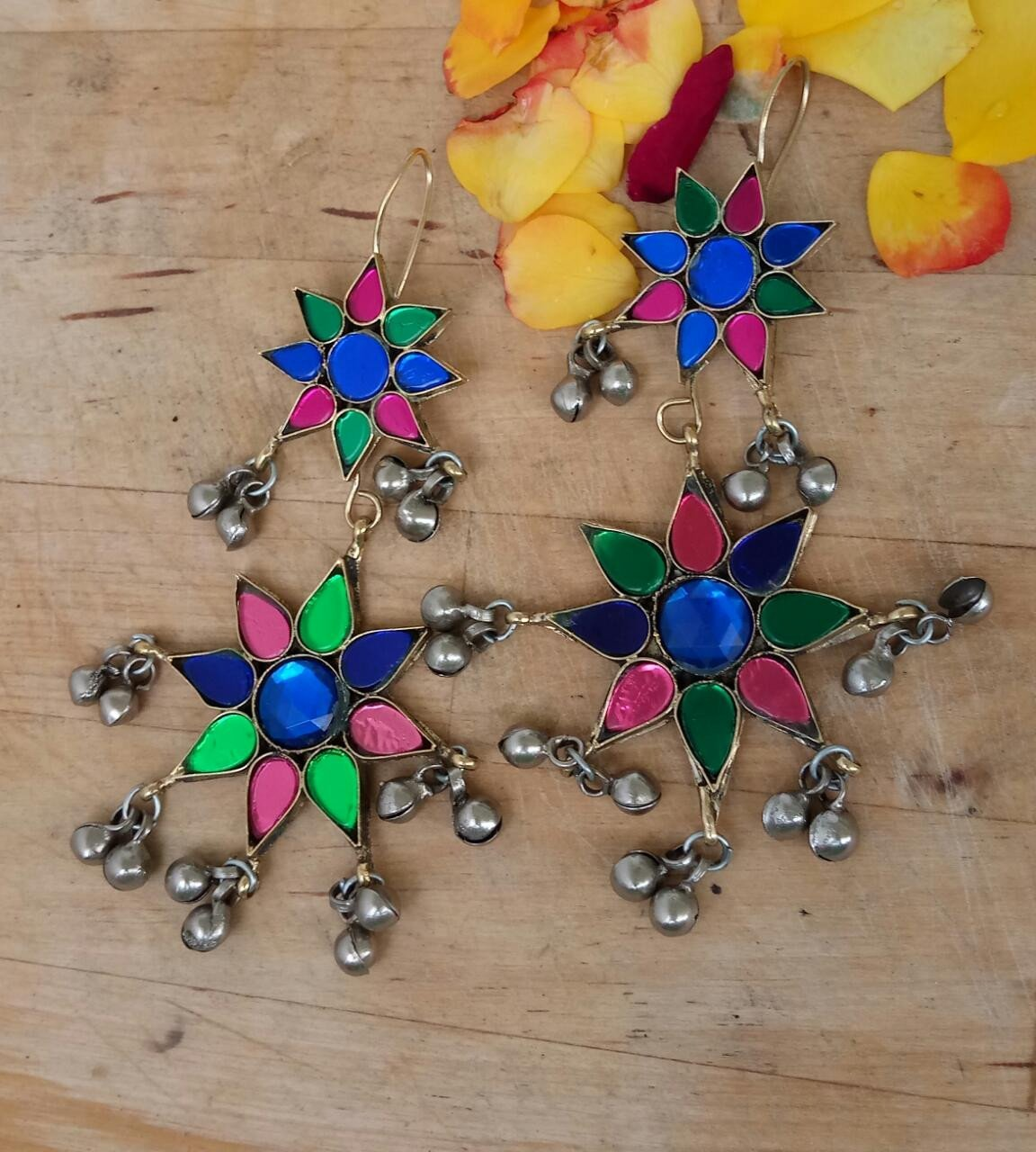 Multicolor Afghani Dangler Earring