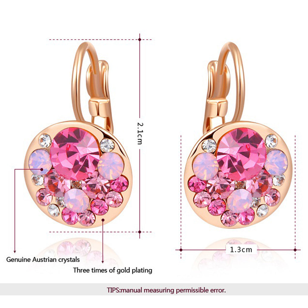 Sukkhi Astonish Radiant Gold Plated Pink Clip On Earring for Women-SUKKHI1-E81060
