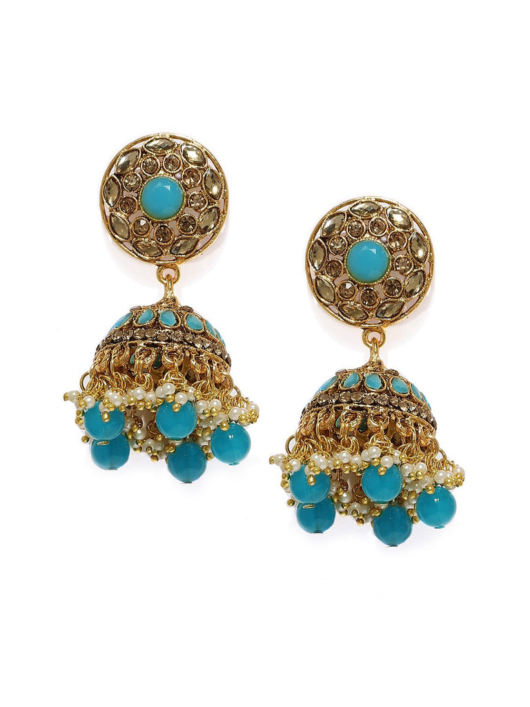 Gold Tone Traditional Jhumka Earring