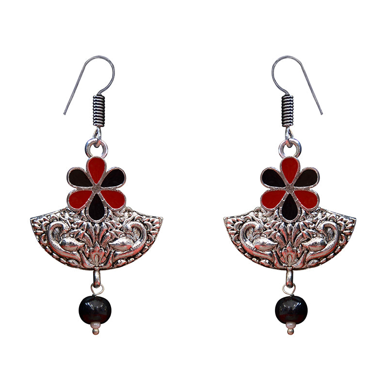 Set of 2 Combo Exclusive Antique Floral Design Earrings