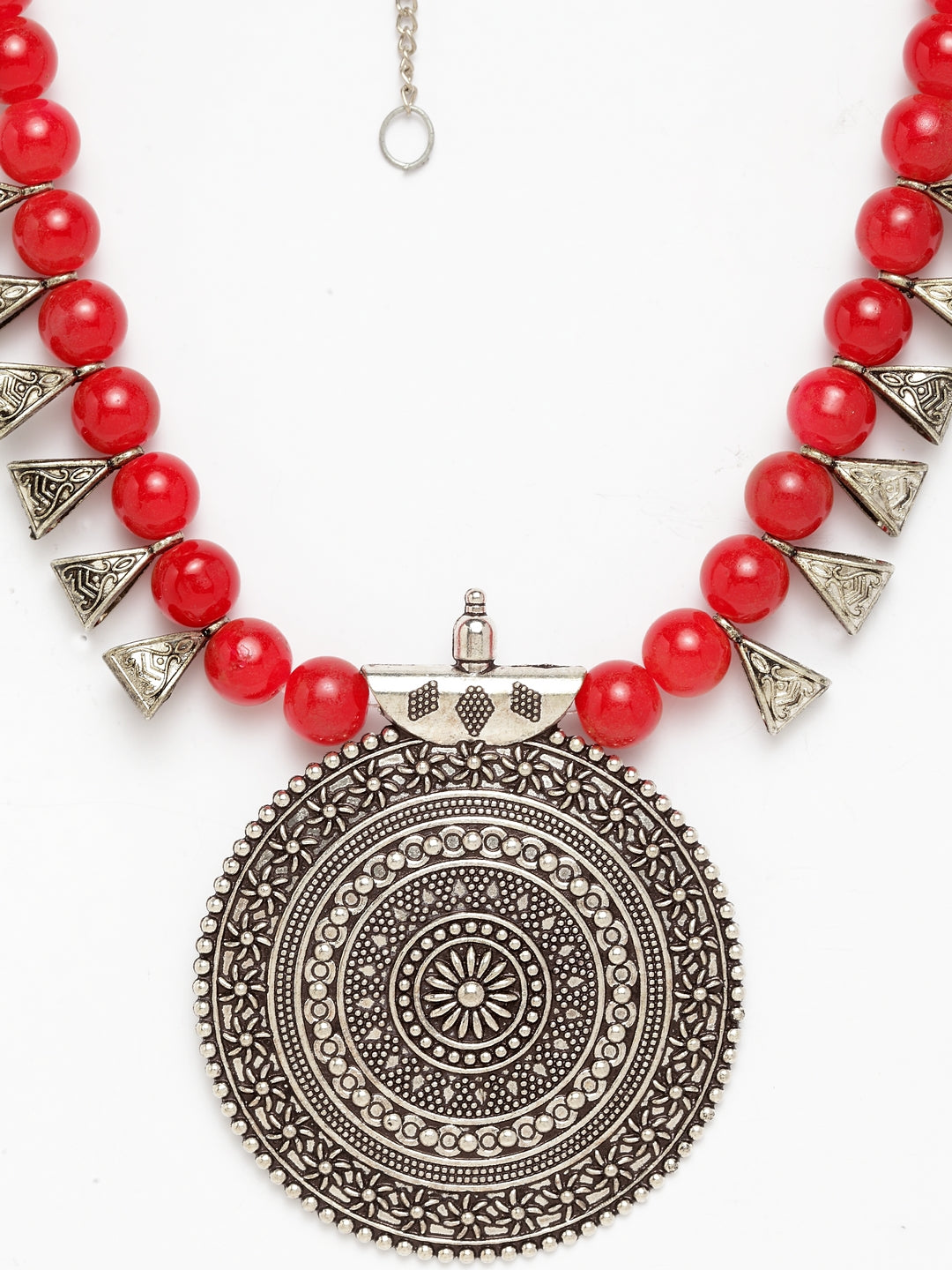 Silver Plated Bold Fashion Necklace-ART MANNIA1-Necklace