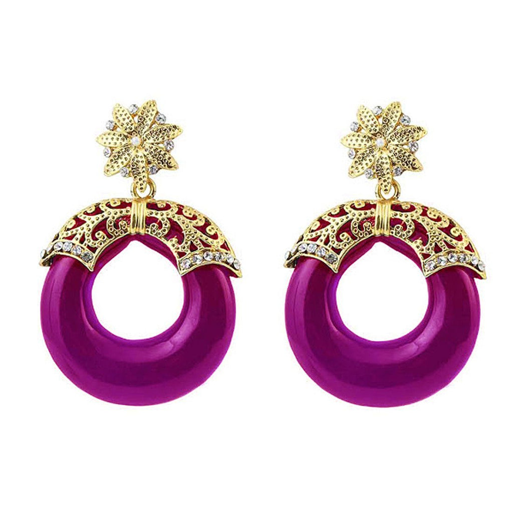 Purple Tube Earrings