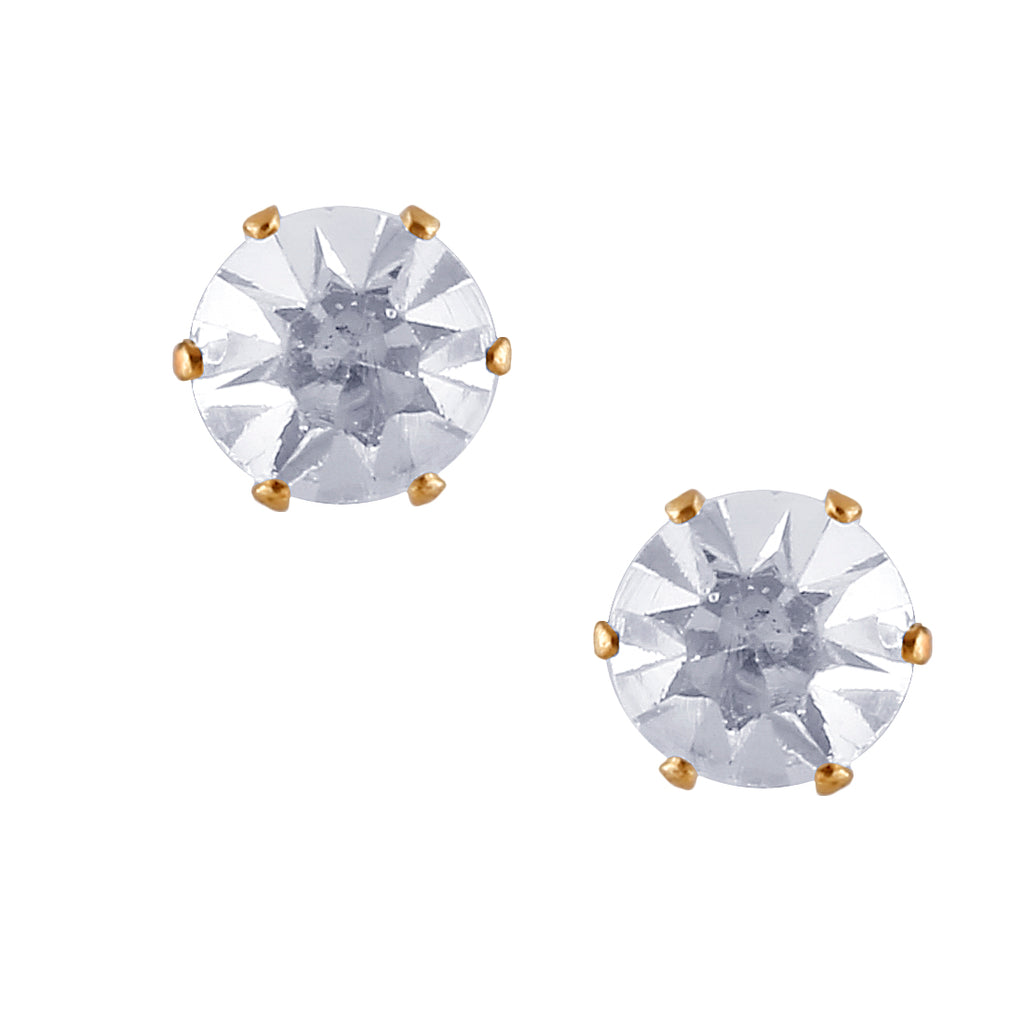 Shining Solitaire Stone Stud earring-THE BLING STORES1-Earring