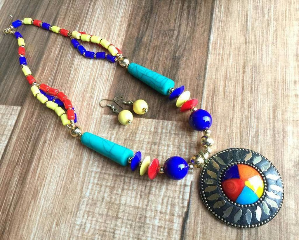 Afghani Trible Multicolor Necklace Set