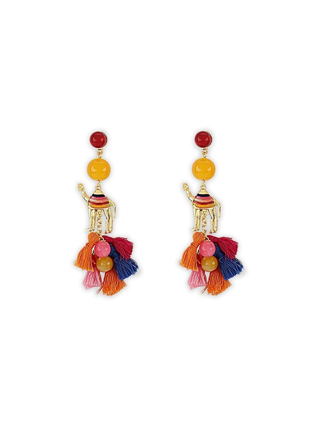 Coloured Camel Earrings