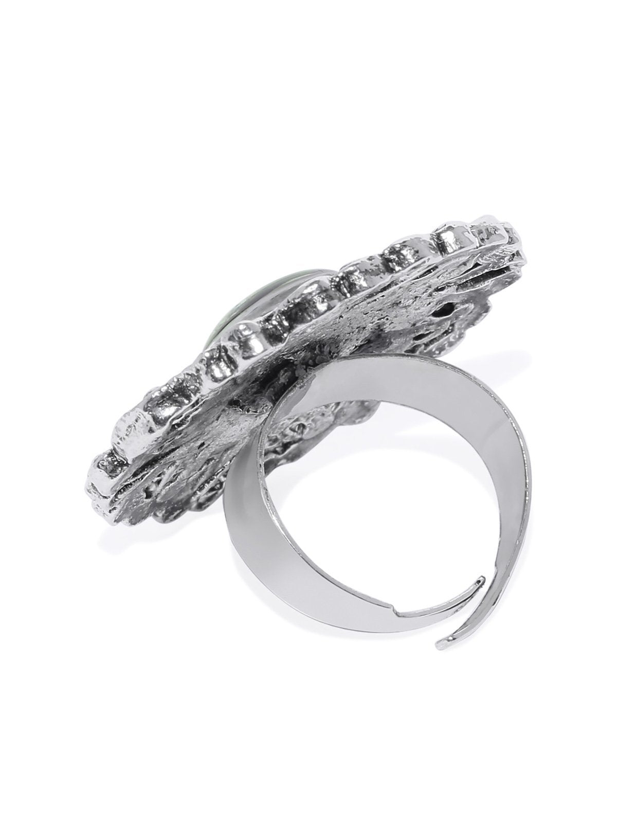 Antique Silver Tone Padmavati Inspired Finger Ring