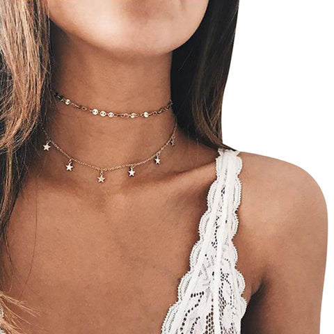 Choker-N-Drop Delicate Style-oozing Necklace
