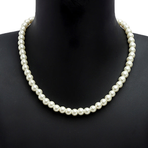 The Bling Stores Classic Style White Pearl Statement Necklace