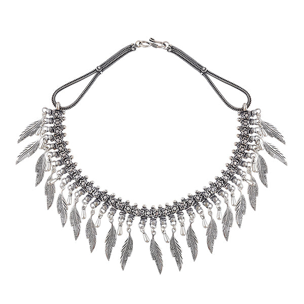 Feather Drops Color Twist Necklace