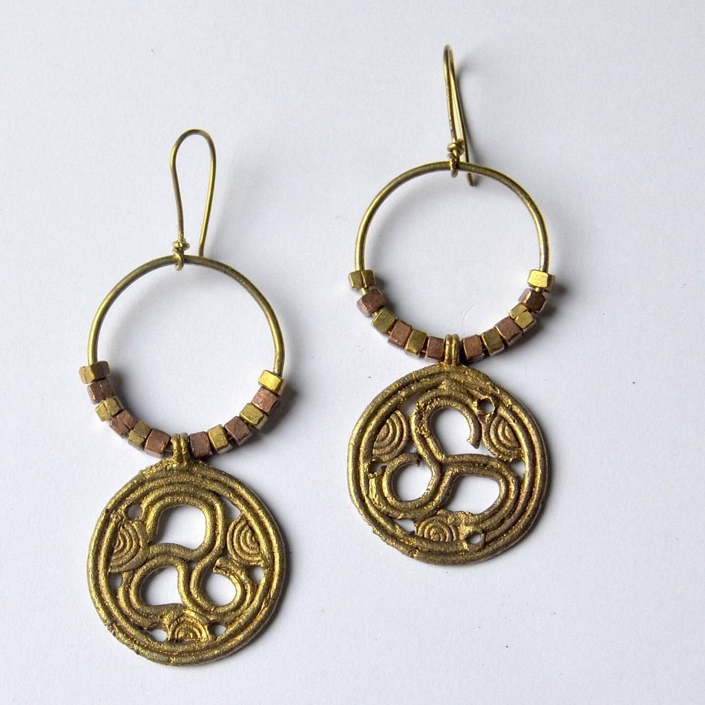 Circles Dhokra Tribal Earring