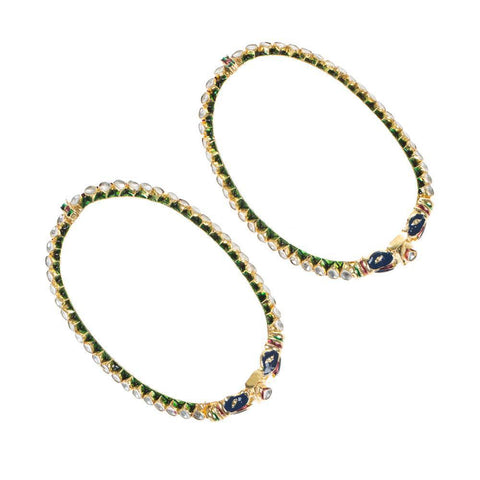 High quality peacock anklets