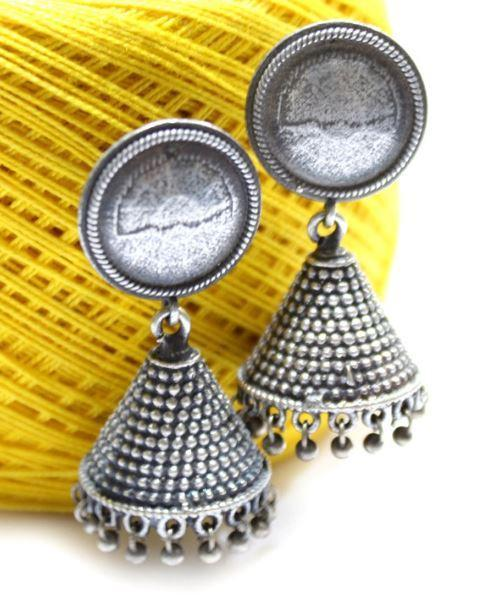 Triangle Silver Replica Jhumka