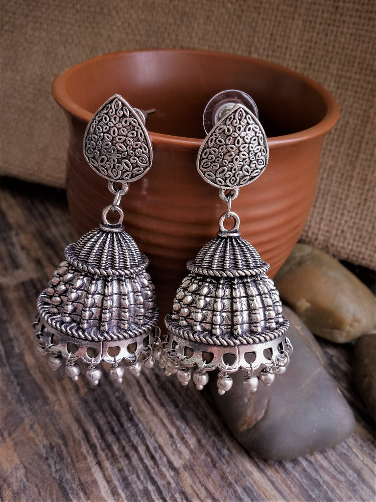 Dew drop studded jhumka