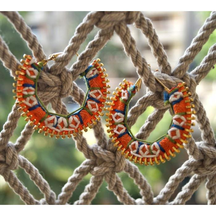 Anetra Colorful Embroidered Hoops
