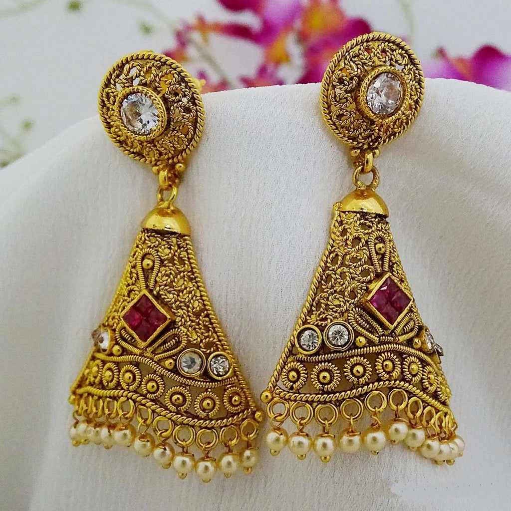 Ruby Studded Polki Earring