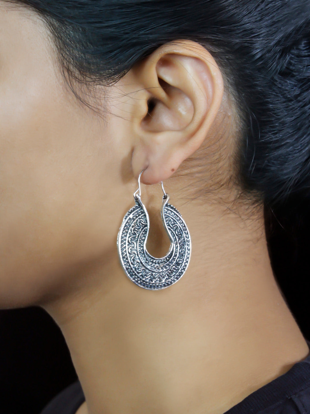 Bohemian Metal Hoop Earrings
