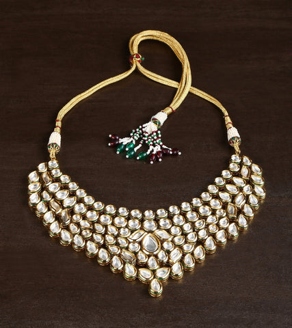 22 Carat Gold Plated Choker With High Quality Kundan