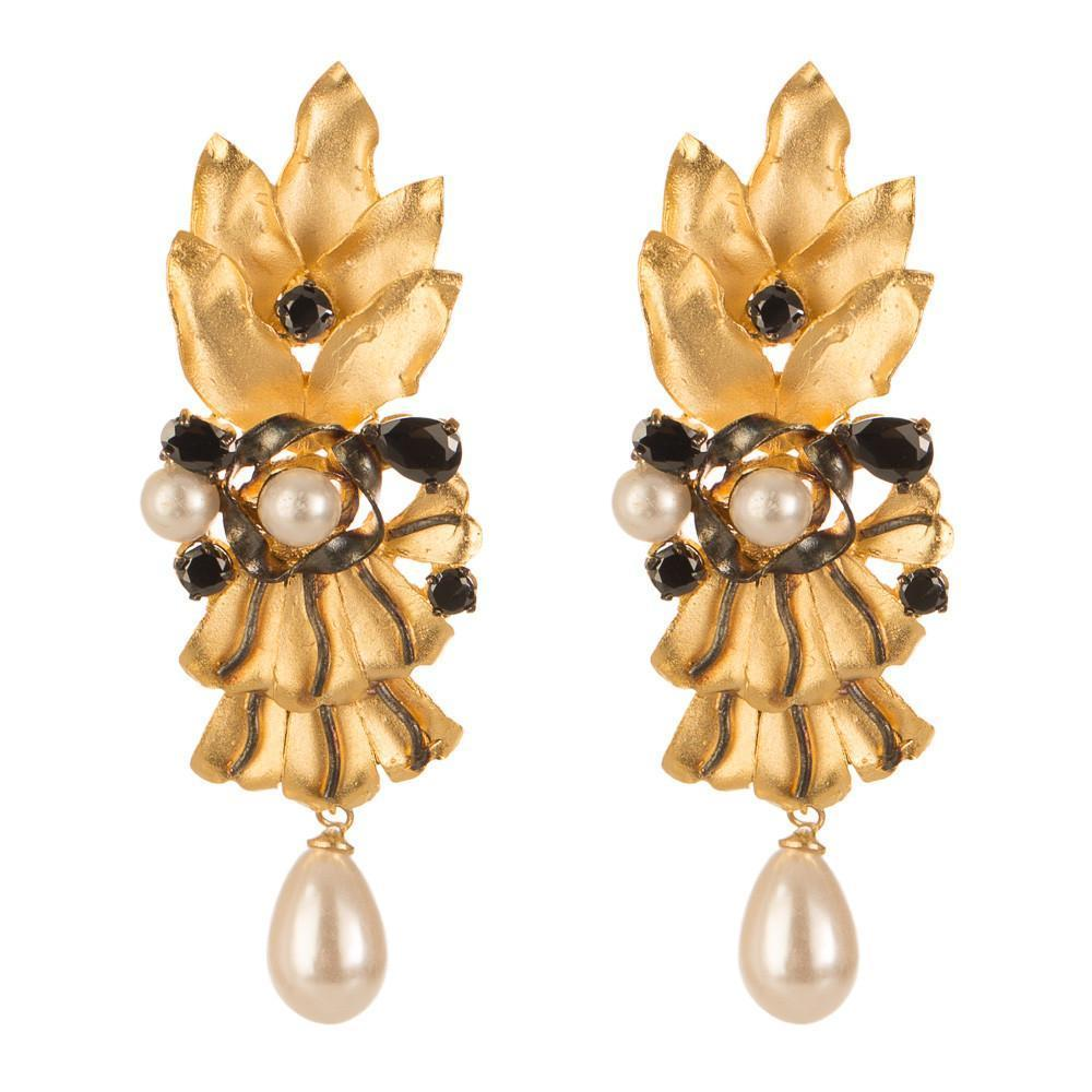 22 Carat Gold Plated Designer Earring