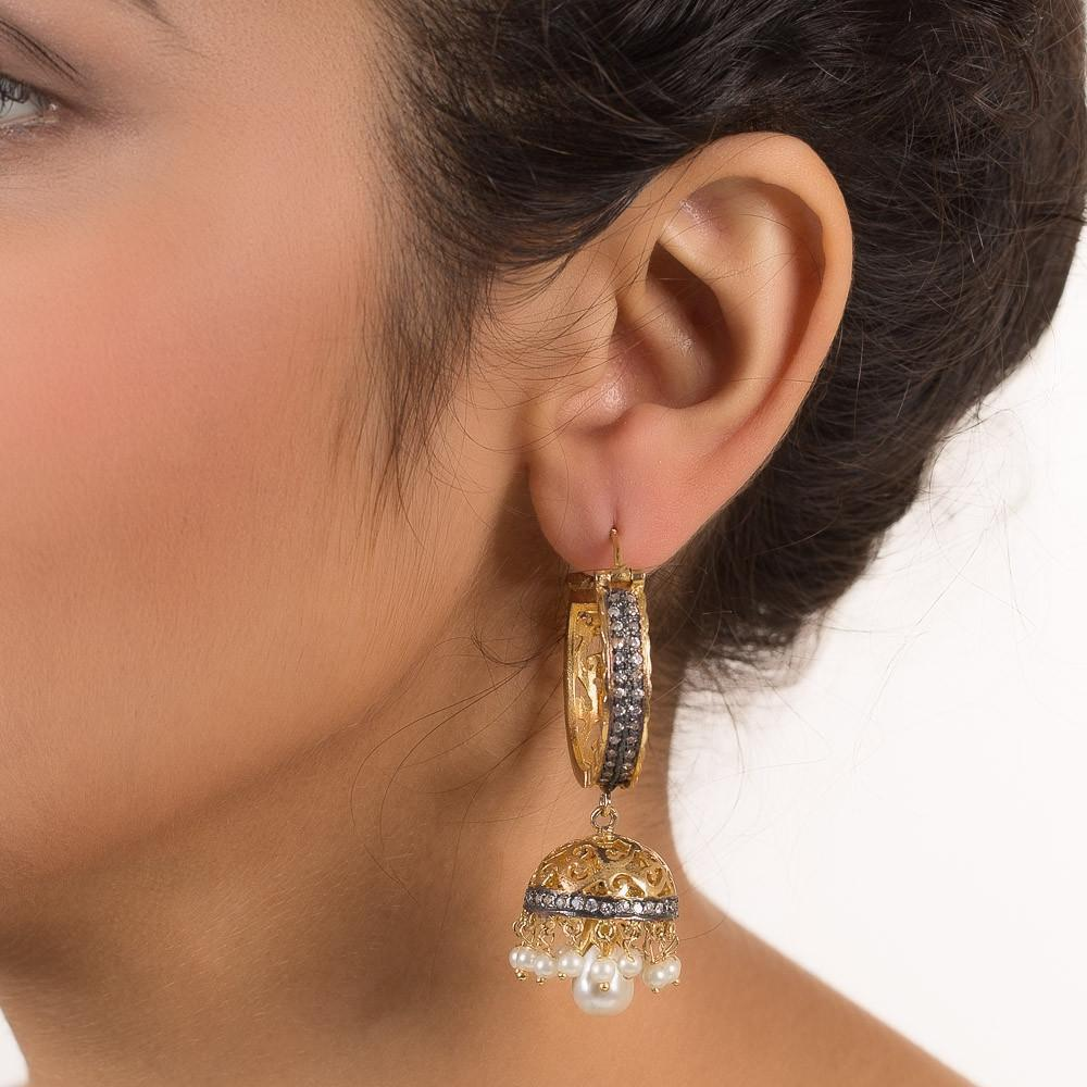 22 Carat Gold Plated Jhumki