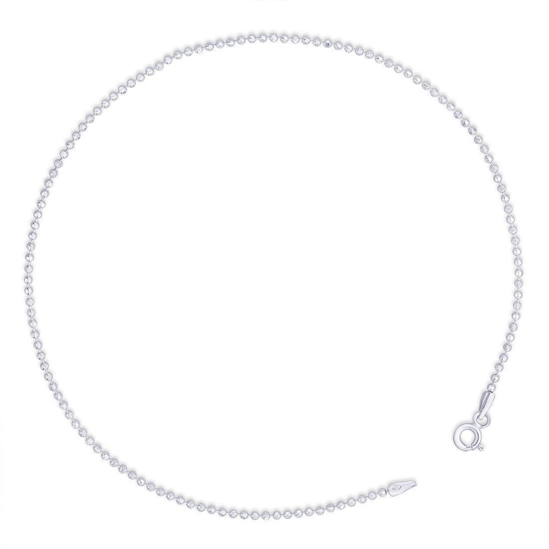 Fine Double Strand Beaded Anklet