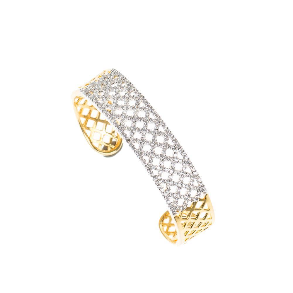 2 in 1 High Quality Golden zircon bracelet and Ring
