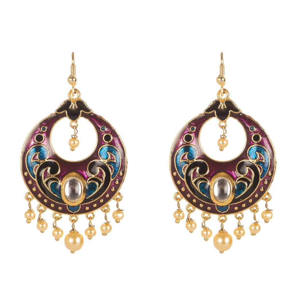 Meenakari Colourful Earrings