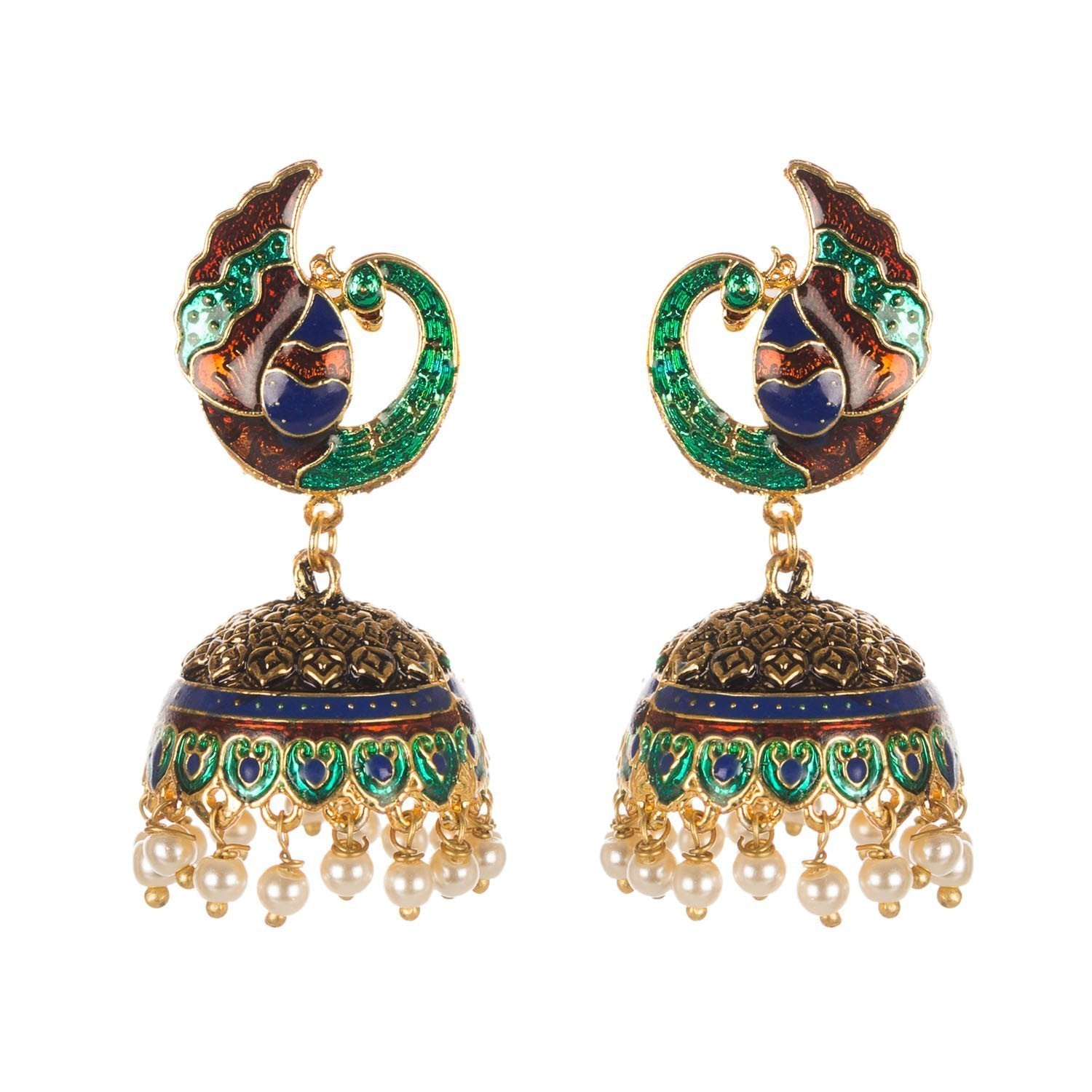 Dull Gold Finish Jhumki