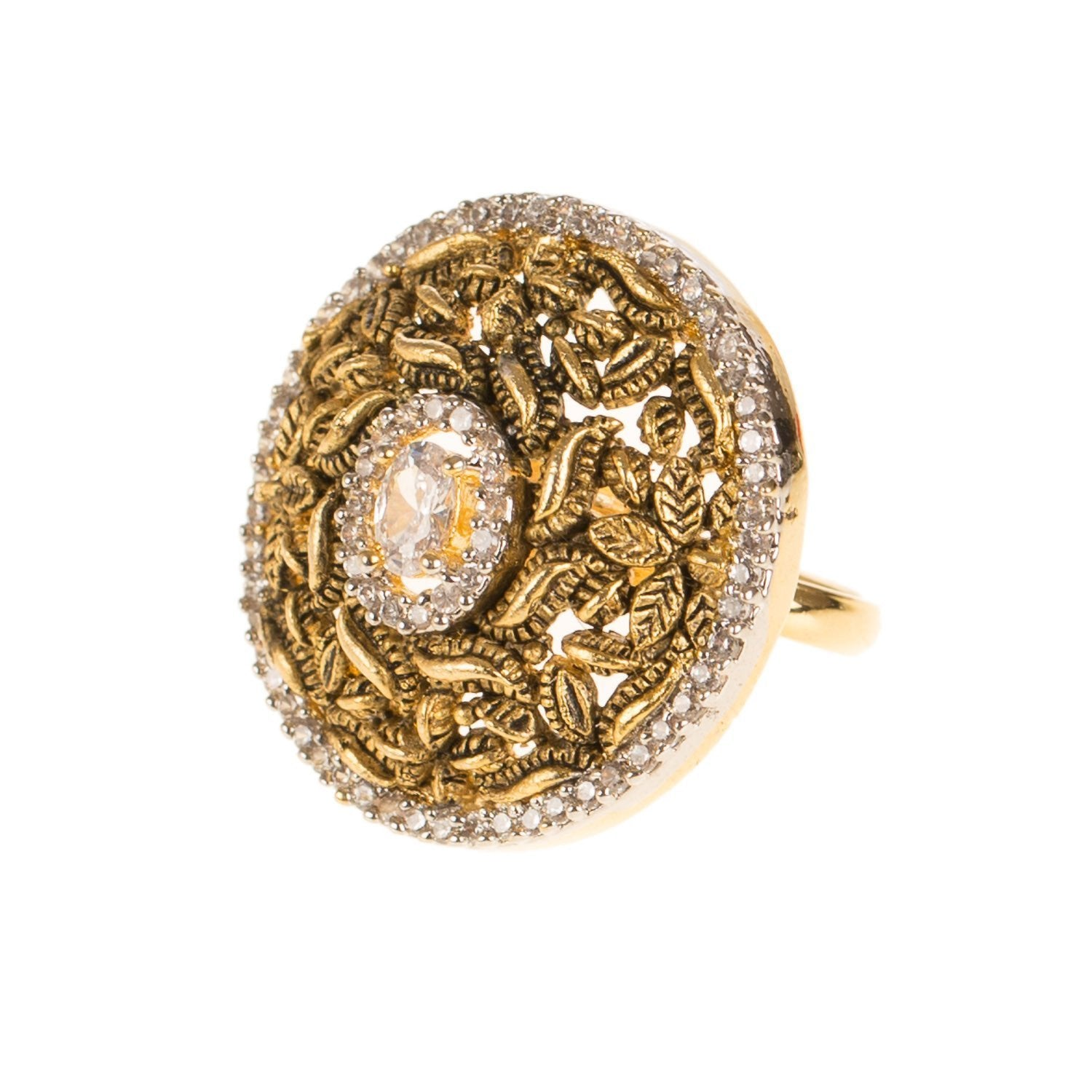 Dull Golden Fashion Adjustable Ring