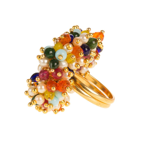 Pearl Beaded Pretty Fashion Adjustable Ring