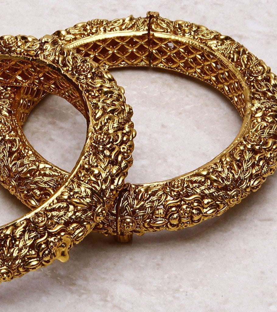 22 Carat Gold Plated Antique Bangle
